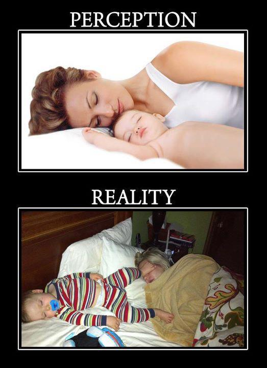 Sleeping With Baby The Reality Humor Mom Always Finds Out