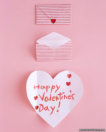 valentine folding hearts