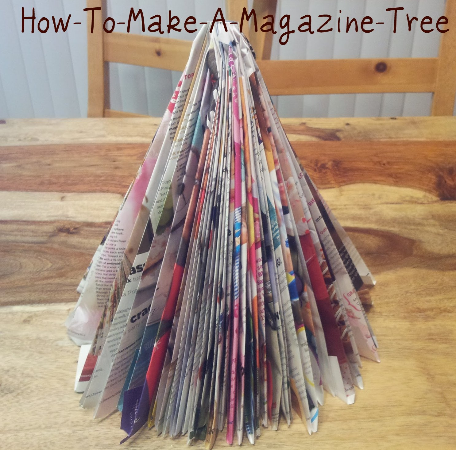 Craft Ideas How To Make A Magazine Tree Mom Always Finds Out
