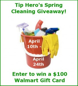 tip hero spring cleaning giveaway event