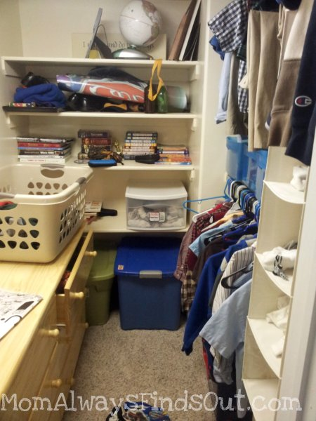 Messy Closet - Yikes! #GetOrganized
