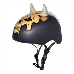 krash horns bike helmet black