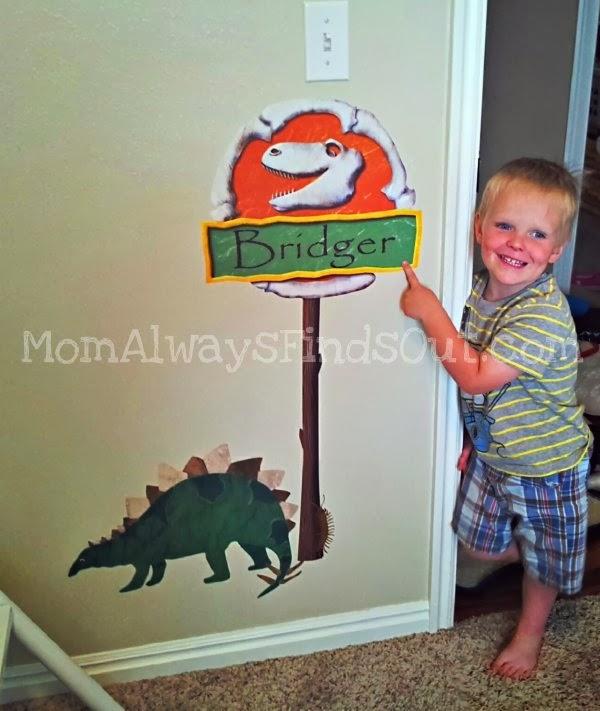 dinosaur custom sign