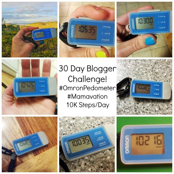 OmronPedometer Challenge #mamavation