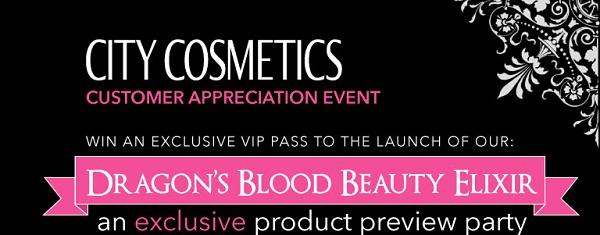 city cosmetics #citycosmetics dragons blood party