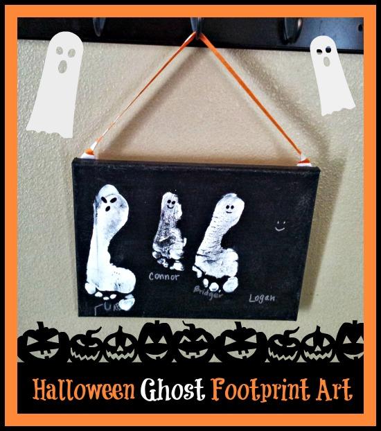Halloween Crafts for kids Ghost Footprints
