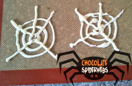 chocolate spiderwebs #halloween