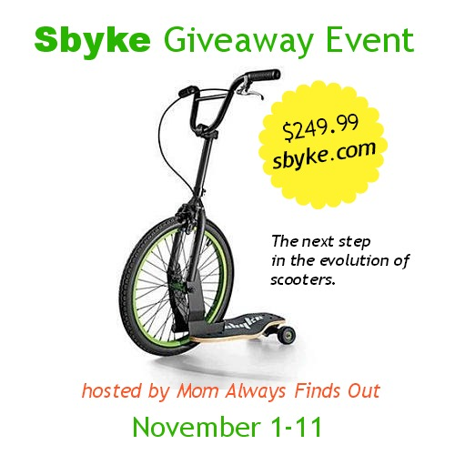 sbyke giveaway event button