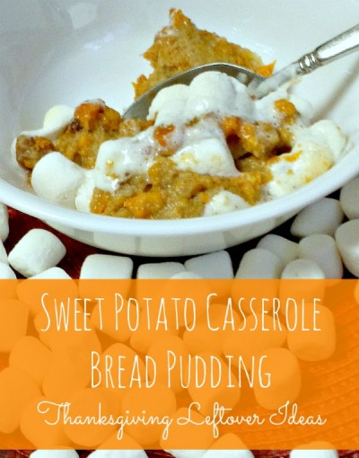 sweet potato bread pudding with marshmallows